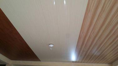 China painéis de teto lisos do PVC de 20cm x de 6mm nenhum projeto de madeira da aspiração distribuidor